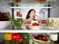 Eating-from-fridge