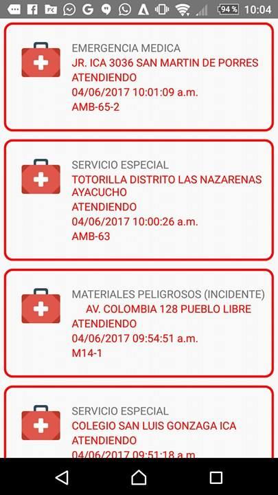 Emergencia-listado